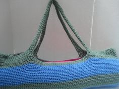 Green and Blue Yoga Mat Bag | Surprise Designs #Craftshout 04-09