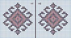 Cross Stitch Flowers, Cross Stitch Patterns, Crochet Patterns, Knitted Mittens Pattern, Knit Mittens, Bargello, Crochet Doilies, Pixel Art, Simple Designs