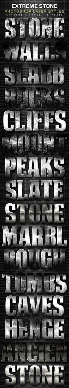 16 Extreme Stone Layer Styles Volume 3