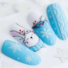 Simple Acrylic Nails, Pink Acrylic Nails, Acrylic Nail Designs, Nail Art Designs, Christmas Gel Nails, Holiday Nails, Winter Nail Art, Winter Nails, Vogue Nails