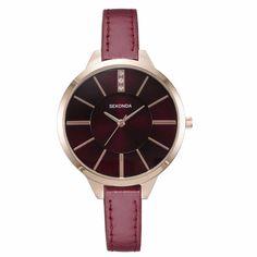 US $99.93 - Sekonda Fashion Scarlet Color Ladies Quartz Watch With Rhinestone Casual Dress Women'S Watch Rose Gold Crystal Reloje Mujer