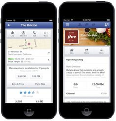 Facebook and OpenTable Working On In-App Restaurant Reservations
