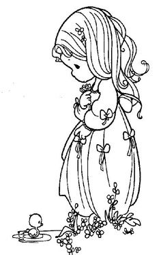 Coloring pages precious moments 81 Bible Coloring Pages, Coloring Pages For Girls, Coloring Sheets, Coloring Books, Precious Moments Coloring Pages, Quilling Patterns, Digi Stamps, Copics, Christmas Colors
