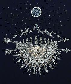 Done. Prints/merchandise at: Zazzle.com/brilazarcreations. #moon #stars #art…