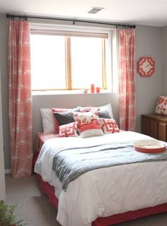navy blue and coral bedroom Google Search bedrooms Pinterest