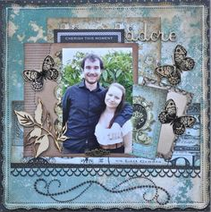 A layout made using the 75 cents collection from Kaisercraft. By Kelly-ann Oosterbeek.