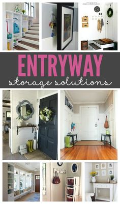 Great tips for organizing the entryway! Tips for small and large spaces.
