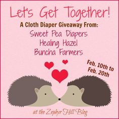 Let's Get Together Giveaway: Cloth Diapers and More!