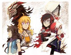 The mistakes of the past & the hopes of the future (ookaminoki) : RWBY Dc Anime, Rwby Anime, Anime Manga, Anime Art, Rwby Fanart, Rwby Volume 1, Akuma No Riddle, Rwby Bumblebee, Red Like Roses