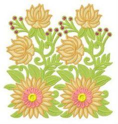 Dahlias machine embroidery design. Machine embroidery design. www.embroideres.com