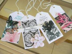 Handmade tags using Cristina Re papers by OSONiA Designs
