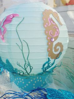 Under the Sea table centerpiece beach or ocean by DellaCartaDecor