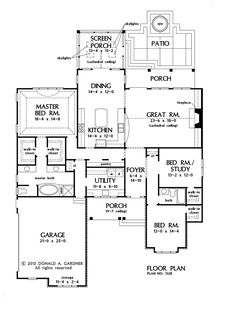 First Floor Plan of The Bosworth House Plan 1328