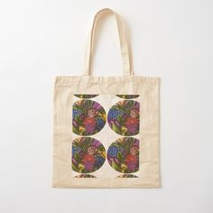 'Flower Bouquets ' Cotton Tote Bag by Laurajart Printed Tote Bags, Cotton Tote Bags, Reusable Tote Bags, Buy Flowers, Bright Flowers, Flower Bouquets, Free Stickers, Large Prints, Shopping Bag