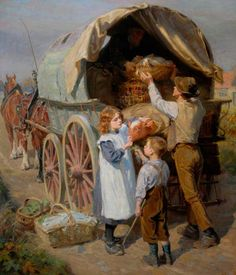 The Athenaeum - The Market Wagon (Ralph Hedley - )