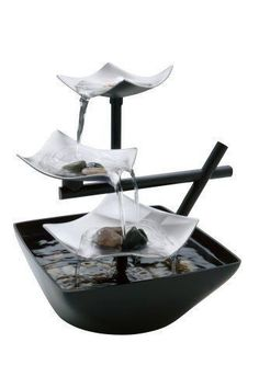 Desk Top Indoor Zen Garden Waterfall | Water Fountain Home Decor | Modern  Design Brings A