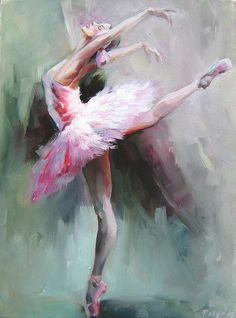 Nelya Shenklyarska BAllerina dancer PAinting