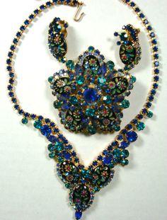 vintage three piece Juliana parure