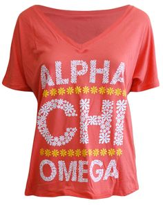 Alpha Chi Omega Only the Best Get Picked Daisy V-neck Adam Block Design