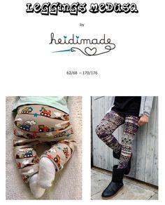 Heidimade Leggings (auch für Jungs mit Einsatz) Größe 62-176