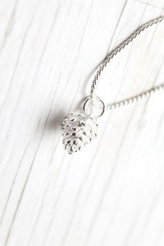 Sterling silver Pine Cone pendant by WhiteLilyDesign, $27.00