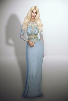 Lightblue Royalty Gown at Fashion Royalty Sims • Sims 4 Updates