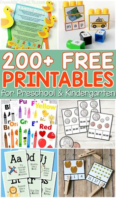 Hundreds of free educational printables for preschoolers and kindergartners! Pages for everything from math and fine motor practice to letter recognition and early literacy!