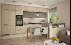 Mieszkanie Bacieczki - Duża otwarta kuchnia w kształcie litery u z wyspą, styl nowoczesny - zdjęcie od Anna Wrona