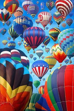 seeing hot air balloons, but a bit scary, I could never go in one