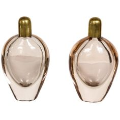Pair of Dusty Pink Scent Bottles | From a unique collection of antique and modern vanities at https://www.1stdibs.com/furniture/tables/vanities/ $2,859