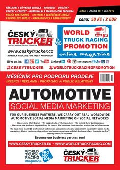 CZECH TRUCKER – online magazine for promoting sales of trucks, commercial vehicles and construction machinery. Internet Marketing, Online Marketing, Social Media Marketing, Used Trucks, Lifted Trucks, Online Magazine, Online Advertising, Sale Promotion, Social Media Site