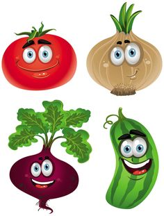 Funny Cartoon Fruits And Vegetables Vegetable Drawing, Vegetable Cartoon, Funny Vegetables, Fruits And Vegetables, Cartoon Vegetables, Eating Vegetables, Veggies, Cartoon Images, Cartoon Drawings