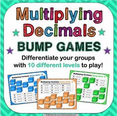 "Math Games and Activities – Tagged ""Decimals"" – Games 4 Gains Decimal Multiplication, Decimal Games, Multiplication Problems, Math Word Problems, Math Fractions, Maths, Equivalent Fractions, Dividing Decimals, Multiplying Decimals"