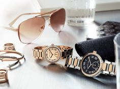 Rose Gold and Two tone...these Michael Kors watches and sunglasses are stunning. #MichaelKors