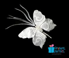 Wedding buterfly, butterfly hair clip, lace butterfly pin