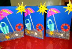 Crafts,Actvities and Worksheets for Preschool,Toddler and Kindergarten.Lots of worksheets and coloring pages. Summer Arts And Crafts, Summer Art Projects, Projects For Kids, Summer Crafts For Toddlers, Beach Themed Crafts, Sea Crafts, Paper Crafts, Daycare Crafts, Preschool Crafts