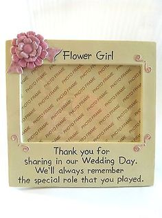 Flower Girl Picture Frame Wedding Party Favor Thank you gift Keepsake