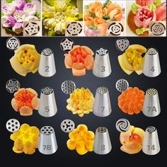 Style 1-12 Russian Tulip Rose Stainless Steel Icing Piping Nozzles Tips Baking