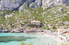 Calanque of Sormiou in Marseille, France