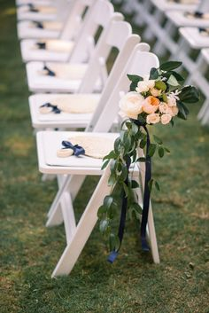 Garden rose and greenery aisle flowers: http://www.stylemepretty.com/south-carolina-weddings/charleston/2016/12/08/governor-house-wedding/ Photography: Tim Will Fine Art - http://www.timwill.com/