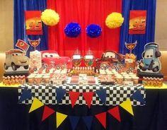 Image result for decoracion de fiesta infantil de los cars