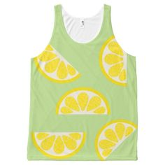 Lemons All-Over Printed Unisex Tank