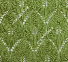 knitting lace stitch flower bud variation that makes it look like feathers free pattern rus