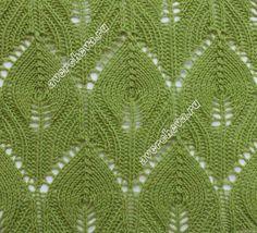 leaf lace knit pattern