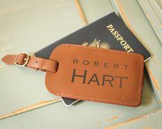 Personalized Luggage Tag, Leather Luggage Tag, Custom Luggage Tag, Custom Address Tag, Travel Accessory, Honeymoon Gift, Destination Wedding