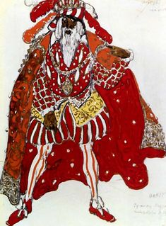 Бакст Лев Самуилович (1866-1924) «Эскиз костюма для постановки 'Легенды Иосифа' Рихарда Штрауса» 1914