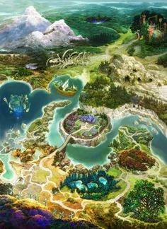 View an image titled 'World Map Art' in our Mana Khemia Fall of Alchemy art gallery featuring official character designs, concept art, and promo pictures. Fantasy World Map, World Map Art, Fantasy City, Fantasy Places, Environment Concept Art, Environment Design, Rpg Map, Rpg World, Alchemy Art
