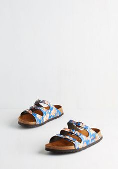 Ambitious Agenda Sandal. Your weekend itinerary is brimming with fun plans, and youre prepared to take em all on in the ease of these blue sandals from Papillio by Birkenstock! #blue #modcloth
