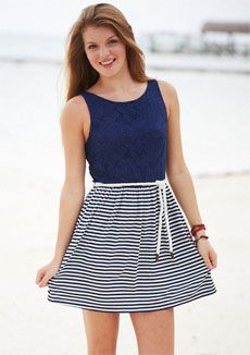 Nautical Lace Dress