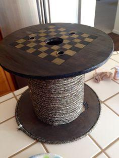 Spool checker board